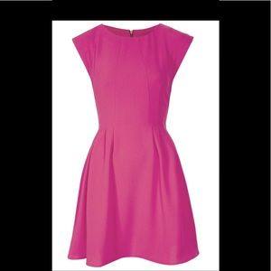 NWT Topshop Crepe Fit and Flare pink dress sz 8